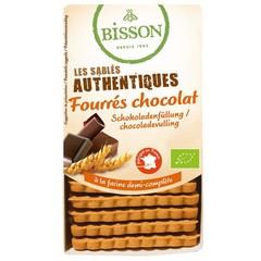 Bisson Biscuits gevuld met chocolade (195 gram)