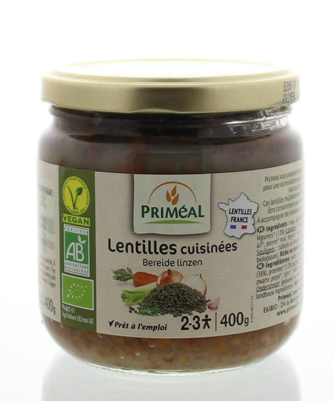 Primeal Primeal Bereide linzen (400 gram)