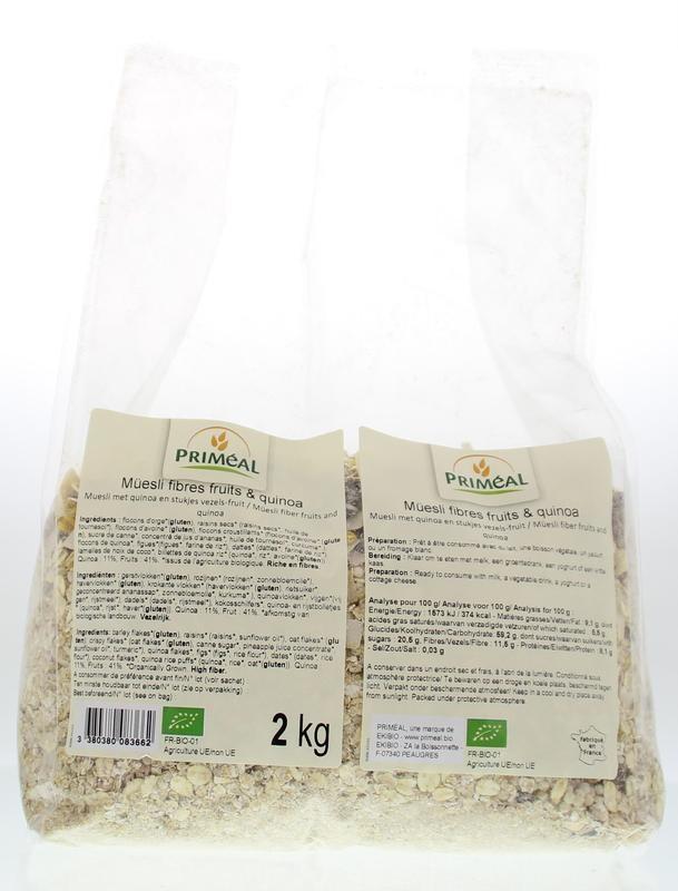Primeal Primeal Muesli vezels fruit quinoa (2 kg)