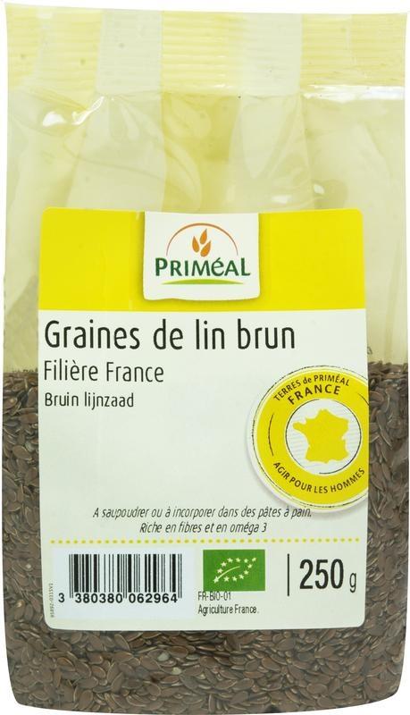 Primeal Primeal Lijnzaad bruin (250 gram)