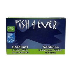 Fish 4 Ever Sardines olijfolie citroen (120 gram)