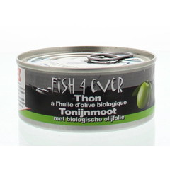 Fish 4 Ever Tonijnmoot in olijfolie (160 gram)