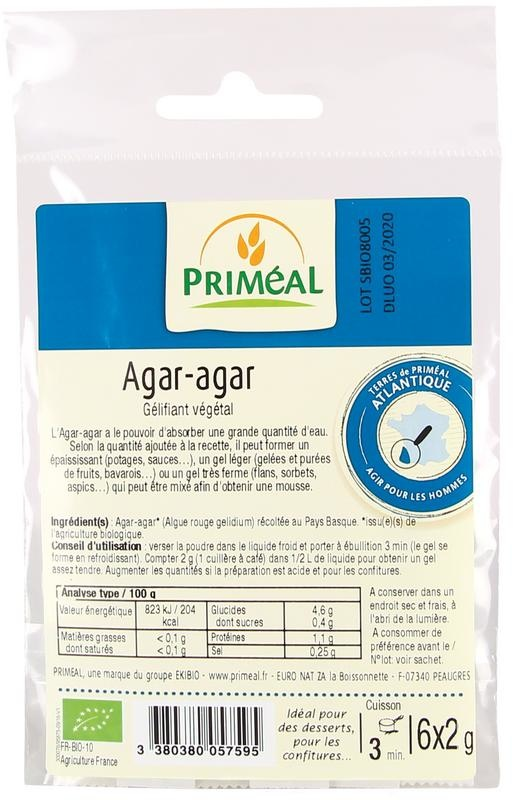 Primeal Primeal Agar agar 6 x 2 gram (12 gram)