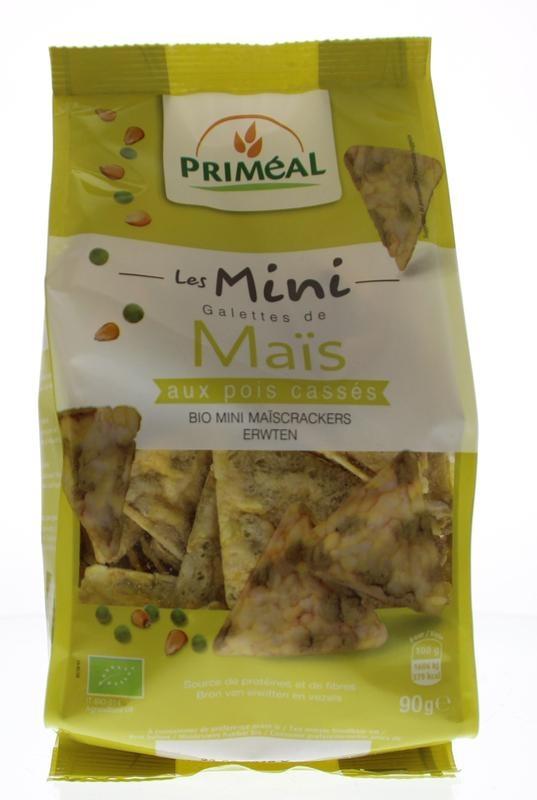 Primeal Primeal Bio mini maiscrackers met erwten (90 gram)