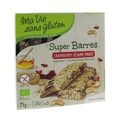 Ma Vie Sans Sesam cranberry reep (75 gram)