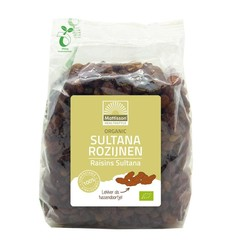 Mattisson Sultana rozijnen bio (500 gram)