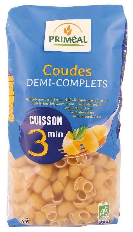 Primeal Primeal Coudes halfvolkoren snelkook 3 minuten (500 gram)