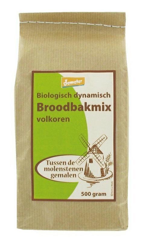 Hermus Hermus Volkoren broodbakmix demeter (500 gram)