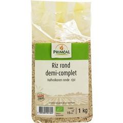 Primeal Halfvolkoren ronde rijst (1 kilogram)