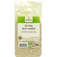 Primeal Halfvolkoren langgraan rijst (500 gram)