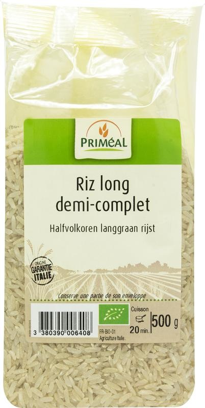 Primeal Primeal Halfvolkoren langgraan rijst (500 gram)