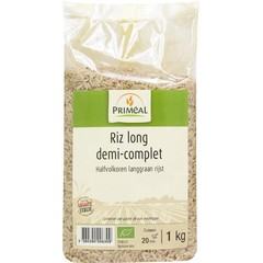 Primeal Halfvolkoren langgraan rijst (1 kilogram)