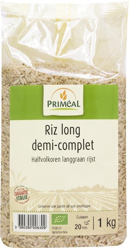Primeal Primeal Halfvolkoren langgraan rijst (1 kilogram)