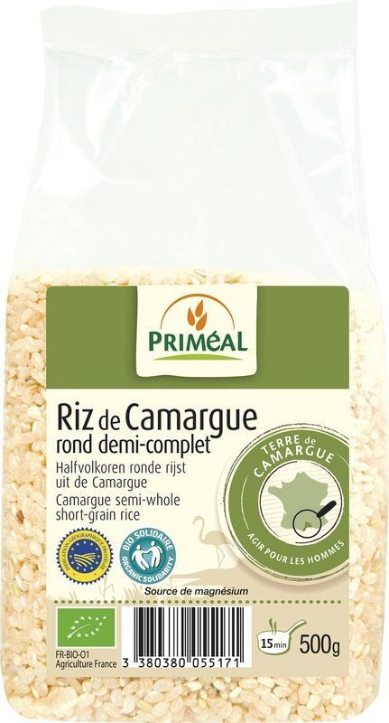 Primeal Primeal Halfvolkoren ronde rijst camargue (500 gram)