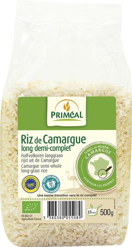 Primeal Primeal Halfvolkoren langgraan rijst camargue (500 gram)