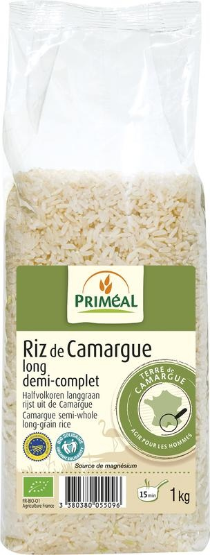 Primeal Primeal Halfvolkoren langgraan rijst camargue (1 kilogram)