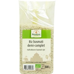Primeal Halfvolkoren basmati rijst (500 gram)
