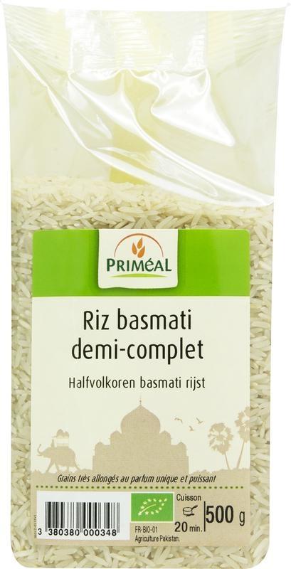 Primeal Primeal Halfvolkoren basmati rijst (500 gram)