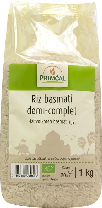 Primeal Primeal Halfvolkoren basmati rijst (1 kilogram)