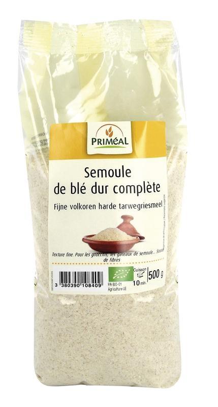 Primeal Primeal Fijn volkoren harde tarwegriesmeel (500 gram)