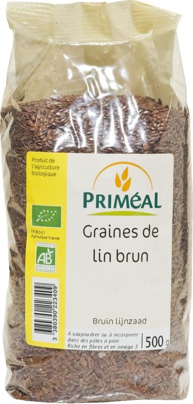 Primeal Primeal Lijnzaad bruin (500 gram)