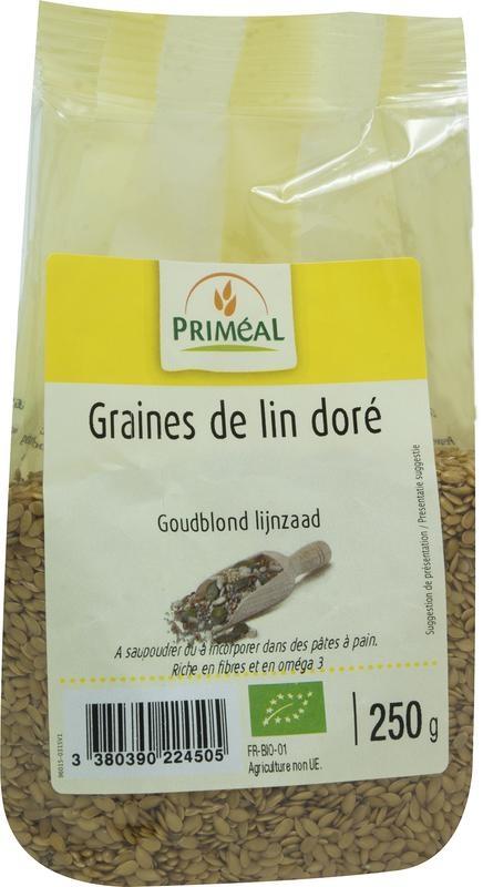 Primeal Primeal Lijnzaad goudblond (250 gram)