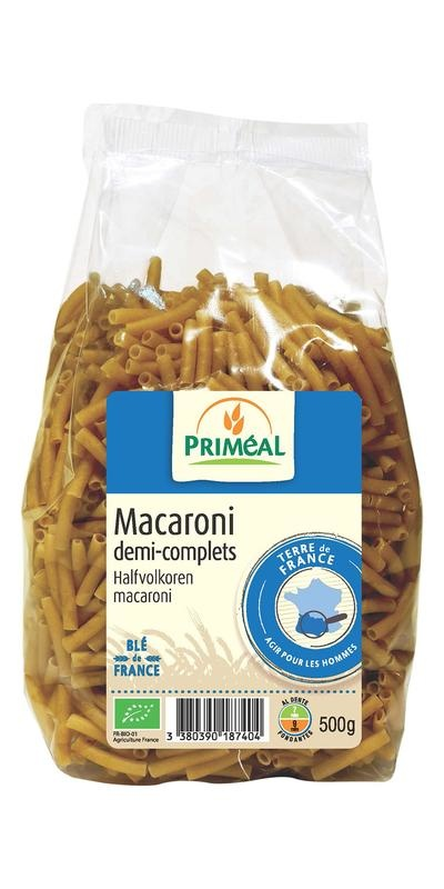 Primeal Primeal Halfvolkoren macaroni (500 gram)