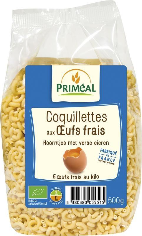 Primeal Primeal Hoorntjes met verse eieren (500 gram)