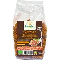 Primeal Spiralen tarwe peulvruchten rode linzen (250 gram)