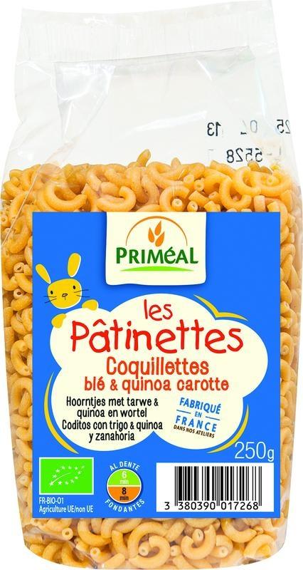 Primeal Primeal Hoorntjes tarwe quinoa wortel (250 gram)