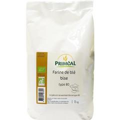Primeal Grijsbruin tarwemeel borsa (1 kilogram)