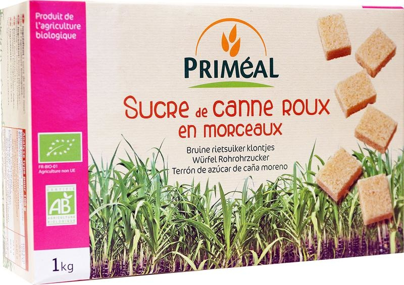 Primeal Primeal Bruine rietsuiker klontjes (1 kilogram)