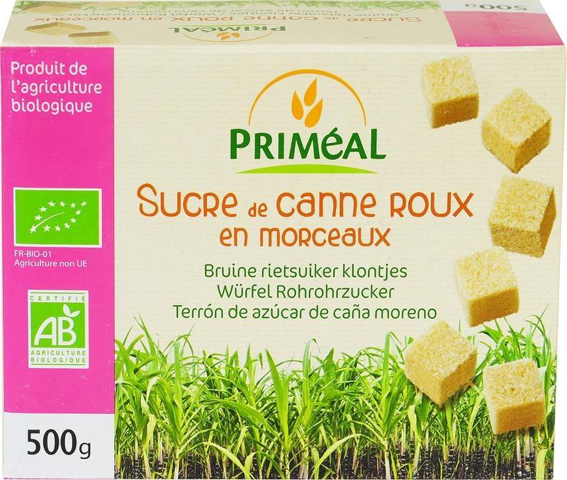 Primeal Primeal Bruine rietsuiker klontjes (500 gram)