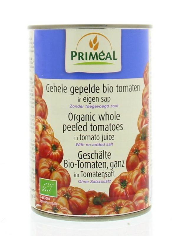 Primeal Primeal Gepelde tomaten zonder zout (400 gram)