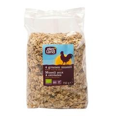 Ekoland Muesli 4 granen (750 gram)