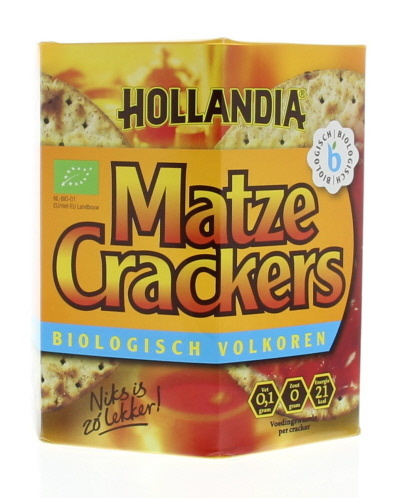 Hollandia Hollandia Matze cracker volkoren (100 gram)