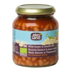 Ekoland Witte bonen in tomatensaus (360 gram)