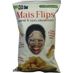 Joannusmolen Mais flips peanuts spicy peppercorn fairtrade (75 gram)