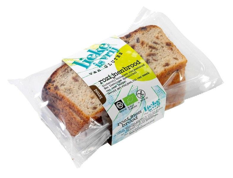 Lieke Is Vrij Lieke Is Vrij Rozijnenbrood (200 gram)