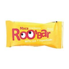 Roo Bar Maca & cranberry 80% raw (50 gram)