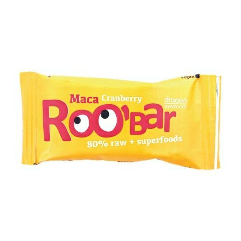 Roo Bar Roo Bar Maca & cranberry 80% raw (50 gram)