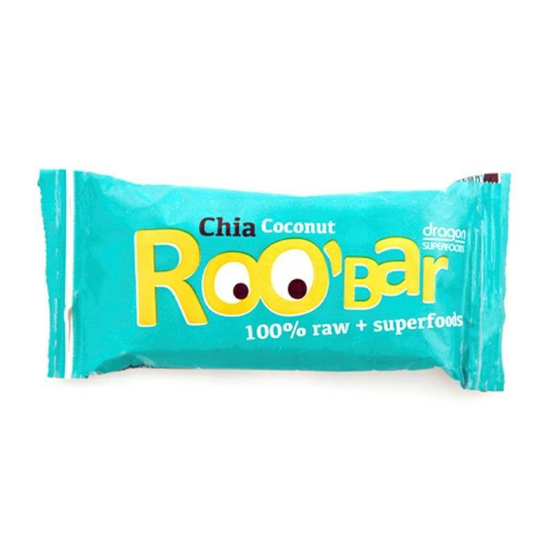 Roo Bar Roo Bar Chia & coconut 100% raw (50 gram)