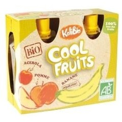 Kalibio Cool fruit appel/banaan 90 gram (4 stuks)