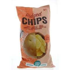 Terrasana Chips ribbel naturel (125 gram)