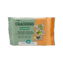 Terrasana Crackers lijnzaad & rozemarijn (160 gram)