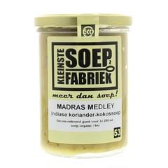Kleinstesoepfabr Madras medley koriander-kokos soep (400 gram)