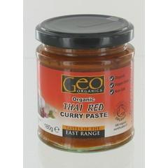Geo Organics Curry paste thai red (180 gram)
