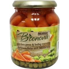 Bionova Doperwten met wortel (340 gram)