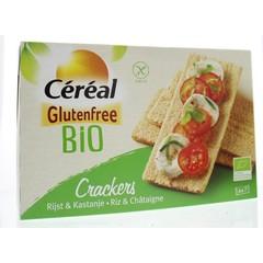 Cereal Cracker rijst kastanje bio (250 gram)