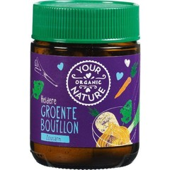 Your Organic Nat Helder groente bouillon poeder zoutarm (100 gram)